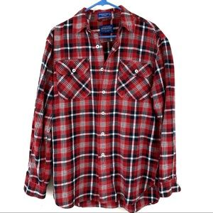 Pendleton burnside button up flannel shirt M